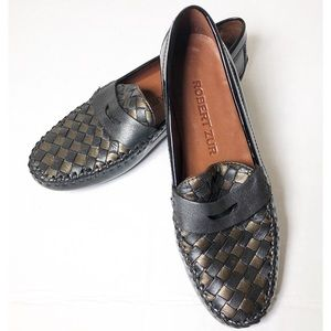 Robert Zur Petra driving loafer black pewter 6AA